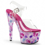 Scarpe Pleaser Crystalize-708/C/PNKM